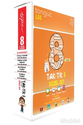 Tonguç Akademi - 8.Sınıf LGS Taktikli Soru Bankası Sözel Set (4 Kitap Takım)