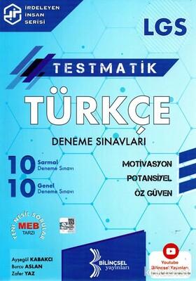 Bilinçsel Yayınları - 8.Sınıf LGS Testmatik Türkçe Deneme