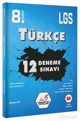 Kondisyon Yayınları - 8.Sınıf LGS Türkçe 12'li Deneme Sınavı