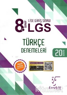Karekök Yayınları - 8.Sınıf LGS Türkçe 20'li Deneme Sınavı