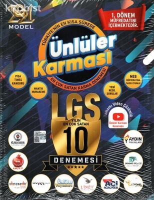 Ünlüler Yayınları - 8.Sınıf LGS Ünlüler Karması 10 Farklı Deneme Sınavı - 2021