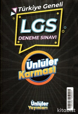 Ünlüler Yayınları - 8.Sınıf LGS Ünlüler Karması Türkiye Geneli Deneme Sınavı