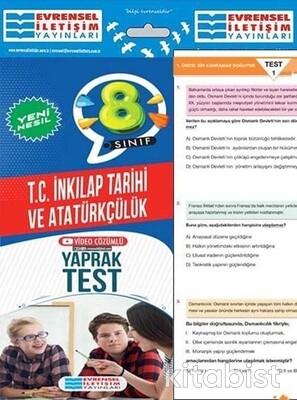 Evrensel Yayınları - 8.Sınıf T.C İnkılap Tarihi ve Atatürkçülük Yaprak Test