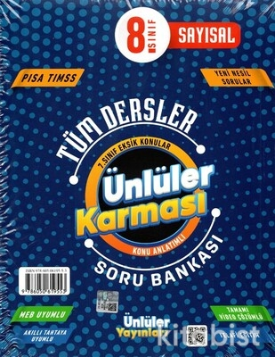 Ünlüler Yayınları - 8.Sınıf Tüm Dersler Ünlüler Karması Konu Anlatımlı Soru Bankası