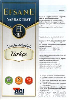 Açı Yayınları - 8.Sınıf Türkçe Çek Kopar Yaprak Test