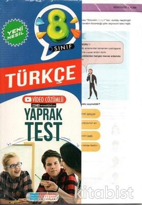 Evrensel Yayınları - 8.Sınıf Türkçe Yaprak Test