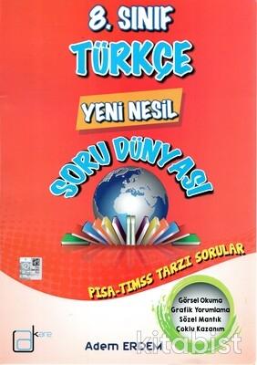A Kare Yayınları - 8.Sınıf Türkçe Yeni Nesil Soru Dünyası