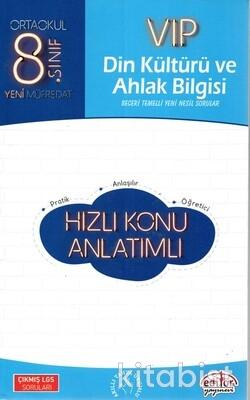Editör Yayınları - 8.Sınıf Vıp Din Kültürü ve Ahlak Bilgisi Hızlı Konu Anlatımlı