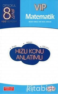 Editör Yayınları - 8.Sınıf Vıp Matematik Hızlı Konu Anlatımlı