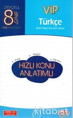 Editör Yayınları - 8.Sınıf Vıp Türkçe Hızlı Konu Anlatımlı