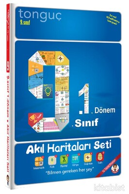 Tonguç Akademi - 9.Sınıf 1.Dönem Akıl Haritaları Seti