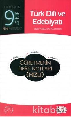 Editör Yayınları - 9.Sınıf Türk Dili ve Edebiyatı Öğretmenin Ders Notları(Hızlı)