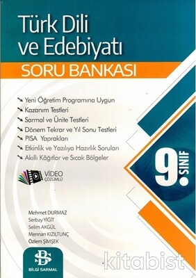 Bilgi Sarmal Yayınları - 9.Sınıf Türk Dili ve Edebiyatı Soru Bankası