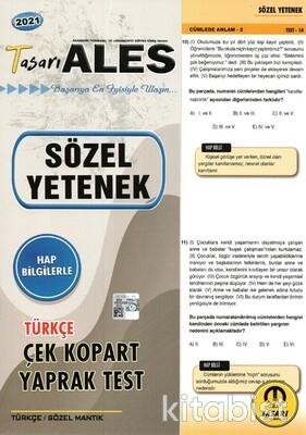 Tasarı Eğitim Yayınları - ALES 2021 Sözel Yetenek Türkçe Yaprak Test