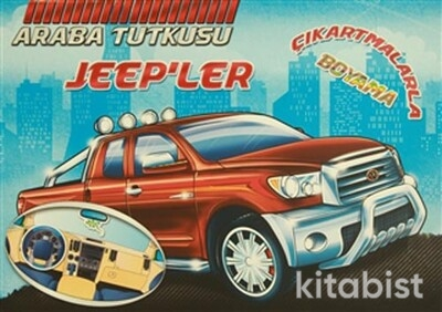 Koloni Yayınları - Araba Tutkusu - Jeep'ler Çıkartmalarla Boyama