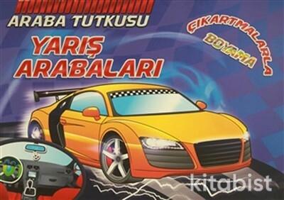 Koloni Yayınları - Araba Tutkusu - Yarış Arabaları Çıkartmalarla Boyama