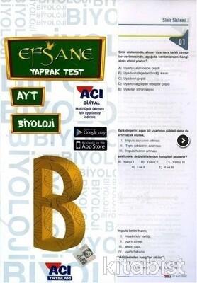 Açı Yayınları - AYT Biyoloji Çek Kopar Yaprak Test