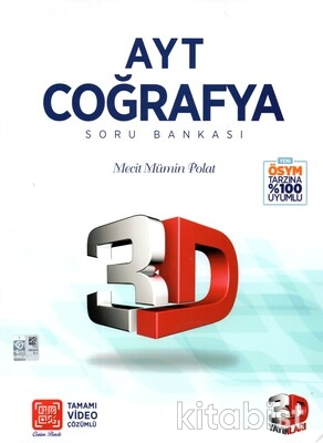 3D Yayınları - AYT Coğrafya Soru Bankası