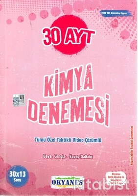 Okyanus Yayınları - AYT Kimya 30'lu Deneme Sınavı