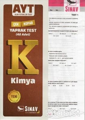 Sınav Yayınları - AYT Kimya Yaprak Test