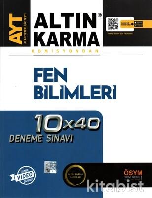 Altın Karma Yayınları - AYT Komisyondan Fen Bilimleri 10X40 Deneme Sınavı