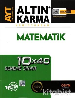 Altın Karma Yayınları - AYT Komisyondan Matematik 10X40 Deneme Sınavı