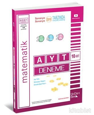 Üçdörtbeş Yayınları - AYT Matematik 10 lu Deneme Sınavı 2021 Model