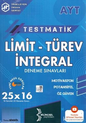Bilinçsel Yayınları - AYT Testmatik Limit-Türev-İntegral 25x16 Deneme Sınavı