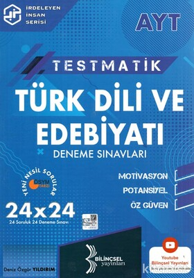 Bilinçsel Yayınları - AYT Testmatik Türk Dili ve Edebiyatı 24x24 Deneme Sınavı