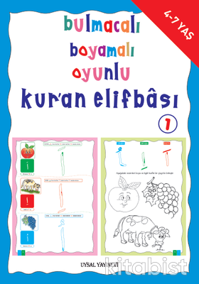 Uysal Yayınları - Bulmacalı Boyamalı Oyunlu Kur an Elifbası1 - 4-7 Y