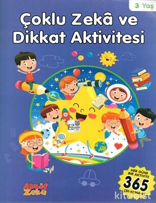Aktif Zeka Yayınları - Çoklu Zeka Ve Dikkat Aktivitesi - Mavi Kitap -3 Yaş