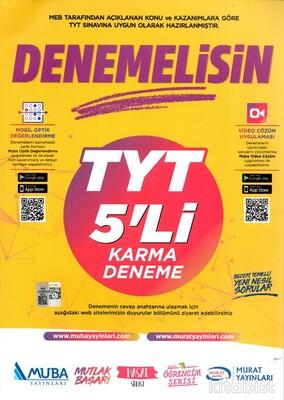 Muba Yayınları - Denemelisin TYT 5'li Karma Deneme