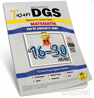Tasarı Eğitim Yayınları - DGS 2021 Matematik 16-30 Arası Çözümlü Sorular