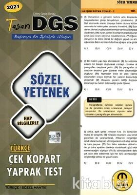 Tasarı Eğitim Yayınları - DGS 2021 Sözel Yetenek Türkçe Yaprak Test