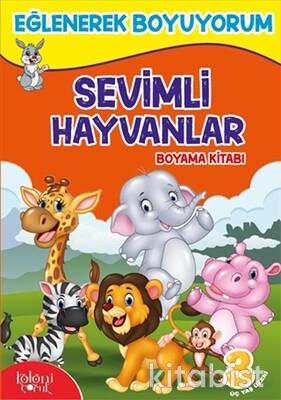 Koloni Yayınları - Eğlenerek Boyuyorum-Sevimli Hayvanlar Boyama Kitabı