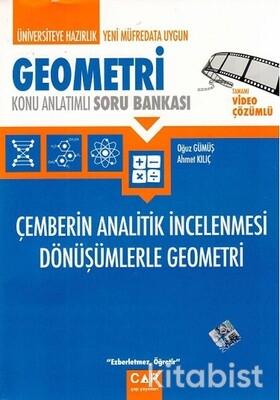 Çap Yayınları - Geometri - Çemberin Analitik İncelenmesi Dönüşümlerle Geometri Konu Anlatımlı Soru Bankası