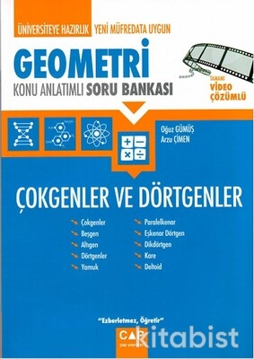 Çap Yayınları - Geometri - Çokgenler ve Dörtgenler Konu Anlatımlı Soru Bankası