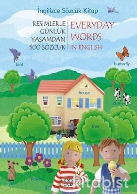 1001 Çiçek Yayınları - Günlük Yaşamdan 500 Sözcük-İngilizce Sözcük Kitap