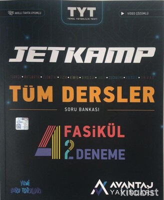 Avantaj Yayınları - TYT Jet Kamp Tüm Dersler Soru Bankası (4 Fasikül 2 Deneme)