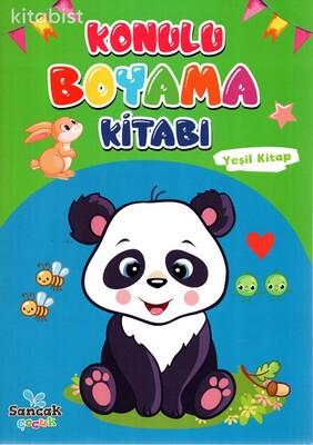 Sancak Çocuk - Konulu Boyama Kitabı-Yeşil Kitap