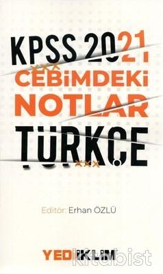 Yedi İklim Yayınları - KPSS 2021 Cebimdeki Notlar Türkçe