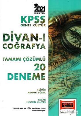 Yargı Yayınları - KPSS 2021 Divan-ı Coğrafya 20'li Tamamı Çözümlü Deneme Sınavı