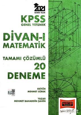 Yargı Yayınları - KPSS 2021 Divan-ı Matematik 20'li Tamamı Çözümlü Deneme Sınavı