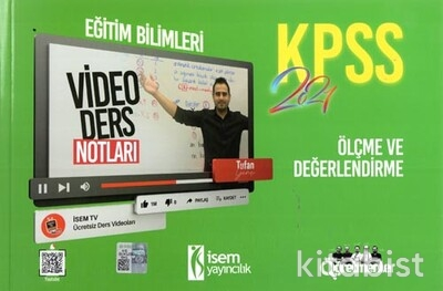 İsem Yayıncılık - KPSS 2021 Eğitim Bilimleri Ölçme ve Değerlendirme Video Ders Notları