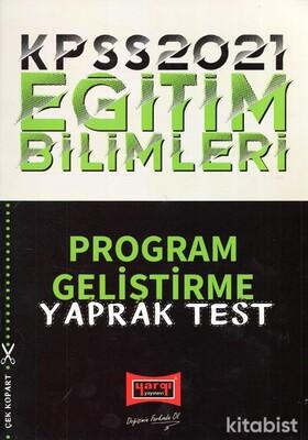 Yargı Yayınları - KPSS 2021 Eğitim Bil.Program Geliştirme Yaprak Test