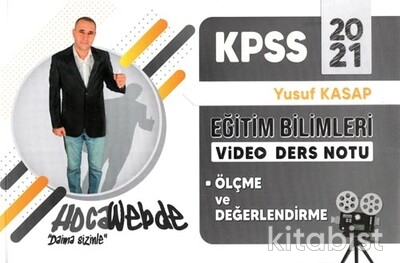 Hoca Webde Yayınları - KPSS 2021 Eğitim Bil.Video Ders Notları Ölçme ve Değerlendirme