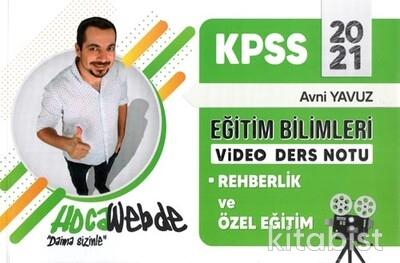 Hoca Webde Yayınları - KPSS 2021 Eğitim Bil.Video Ders Notları Rehberlik ve Özel Eğitim