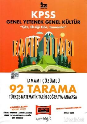 Yargı Yayınları - KPSS 2021 Genel Yetenek Genel Kültür Kamp Kitabı 92 Tarama Tamamı Çözümlü Soru Bankası