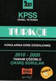 Yargı Yayınları - KPSS 2021 Genel Yetenek Türkçe 2010-2020 Çıkmış Sorular