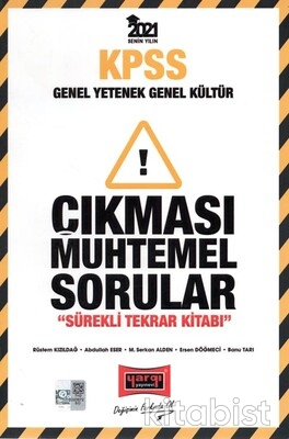Yargı Yayınları - KPSS 2021 GY/GK Çıkması Muhtemel Sorular